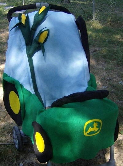 John Deere Tractor Stroller Costume for Trick and Treating or Halloween Party