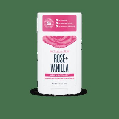 Schmidt's Rose + Vanilla Natural Deodorant Stick