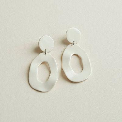 Four Eyes Ceramics - Cutout Dangle Earrings