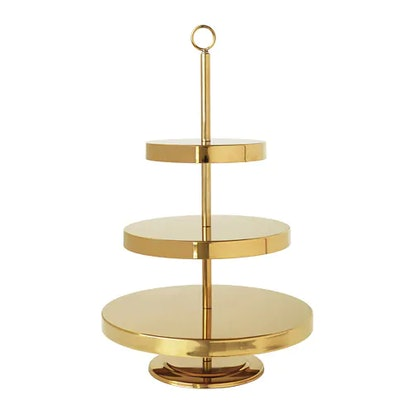 VINTER 2018 Serving Stand 3 Tiers, Gold