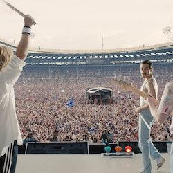 Rami Malek in 'Bohemian Rhapsody'. Photo via 20th Century Fox