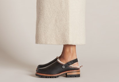 Whipstitch Shearling Clogs