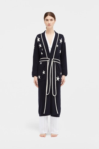 Navy Star Cashmere Dressing Gown from CHINTI & PARKER.