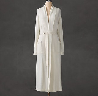 Cashmere Long Robe in Natural from Restoration Hardware.