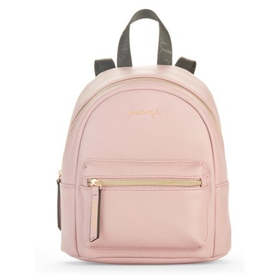 Blush Saffiano Faux Leather Small Backpack