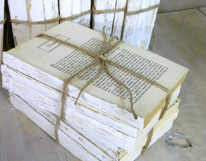 BluBerriFinds Vintage White Decorative Books (set of 3)