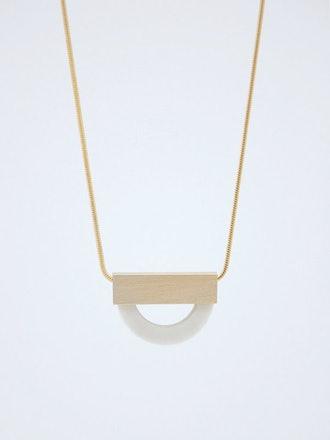 Philo K. - FORMA n.4  White Porcelain Necklace