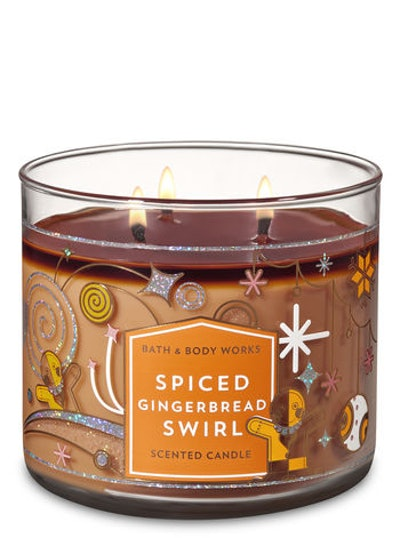 Spiced Gingerbread Swirl 3-Wick Candle