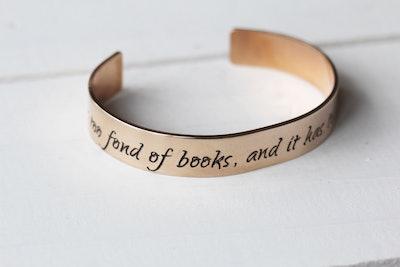 She Is Too Fond Of Books Bracelet