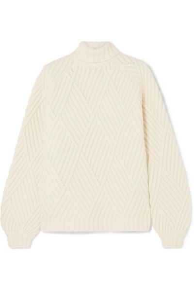 Wool-blended Turtleneck Sweater
