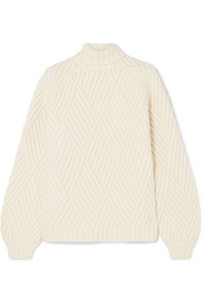 Wool-blended Turtleneck Sweater