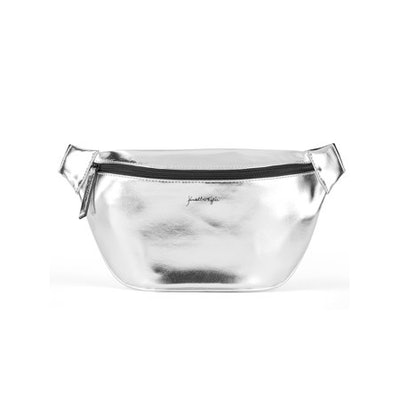 Kendall + Kylie Silver Metallic Fanny Pack