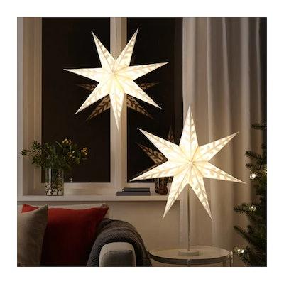 STRÅLA Lamp Shade Snowflake, White