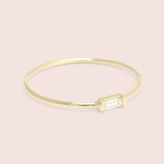 Diamond Baguette Ring (Yellow Gold)