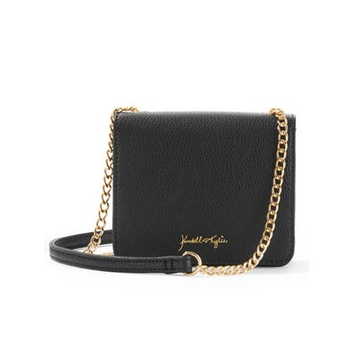 Kendall + Kylie Black Pebble Faux Leather Crossbody
