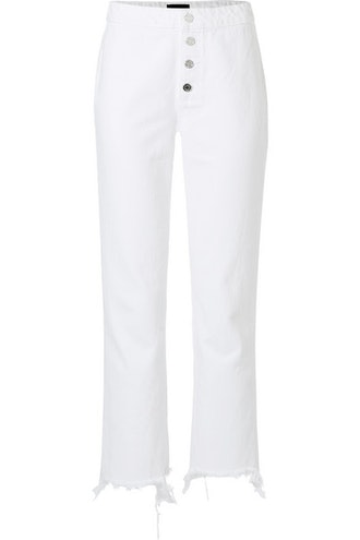 Max Frayed High-Rise Straight-Leg Jeans