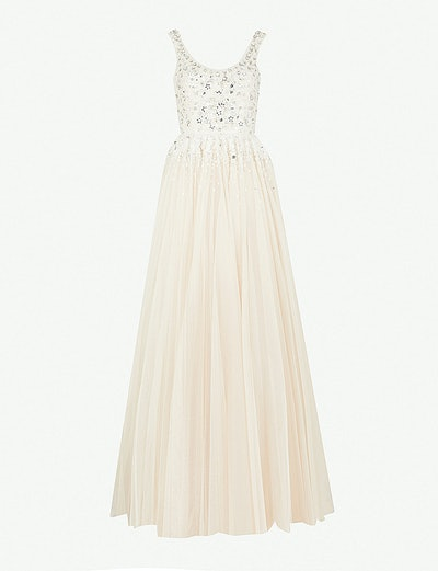 Adara Embellished And Tulle Gown