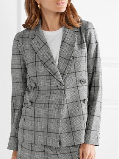 Bacall Checked Woven Blazer