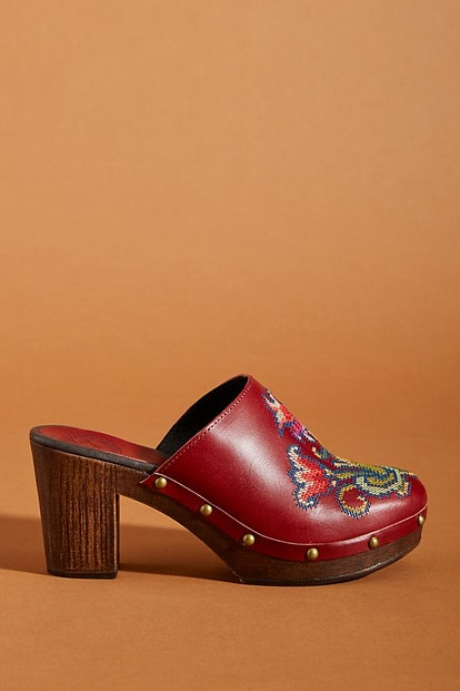 Embroidered Clogs