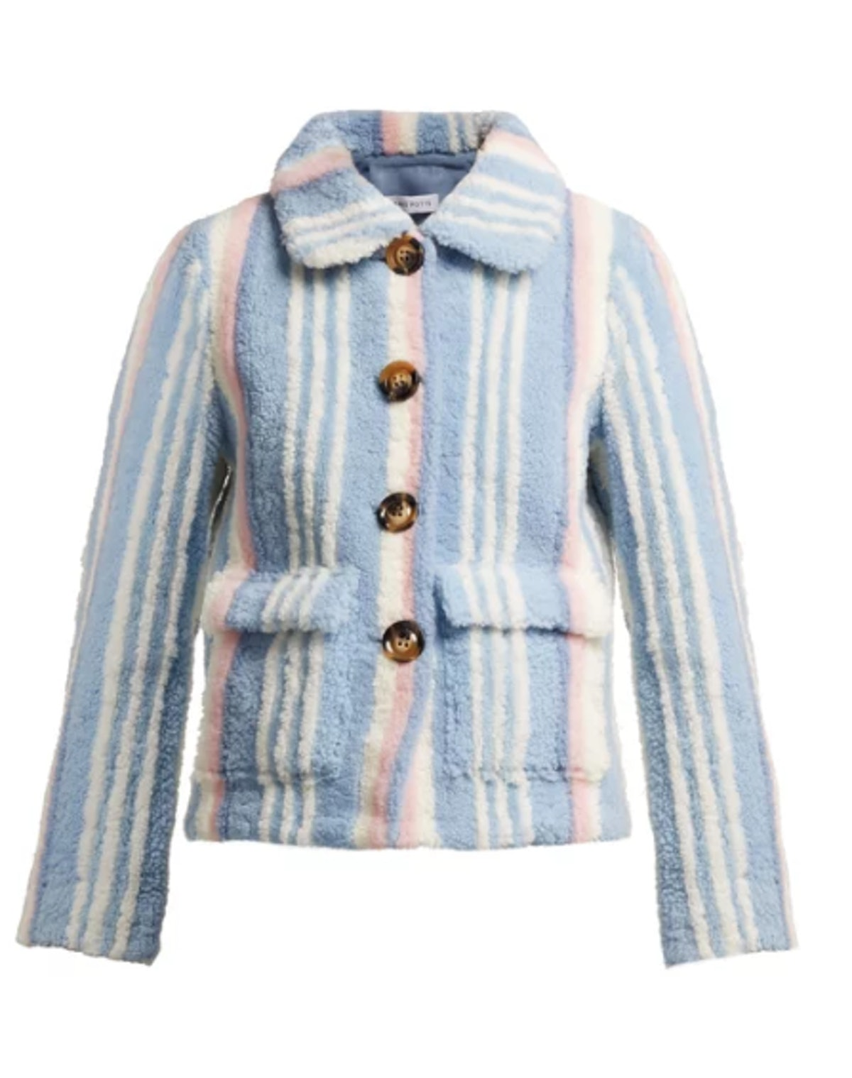 Lucy Striped Shearling Jacket