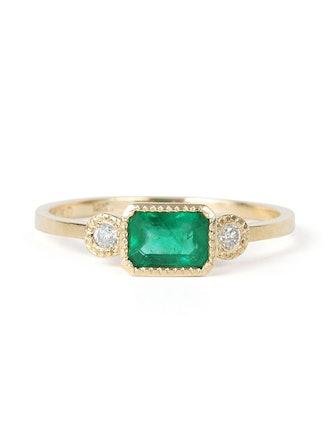 Lexie Emerald Ring