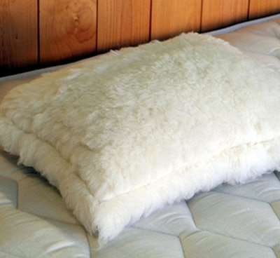 Holy Lamb Eco-Wool Fleece Throw Pillow