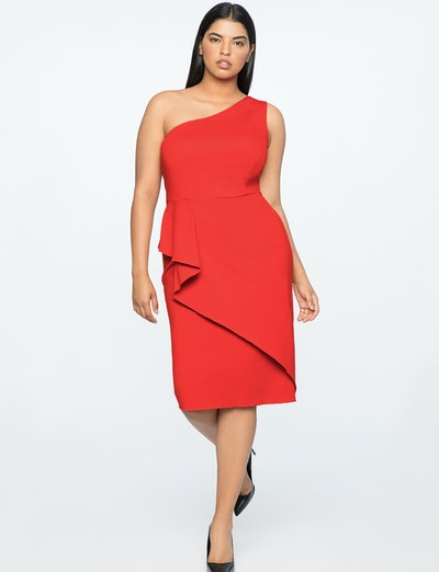 Jason Wu X ELOQUII Asymmetrical One Shoulder Dress