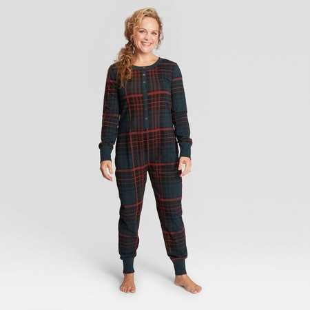 Hearth & Hand Women's Plaid Union Suit