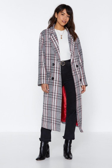 Plaid Romance Oversized Coat