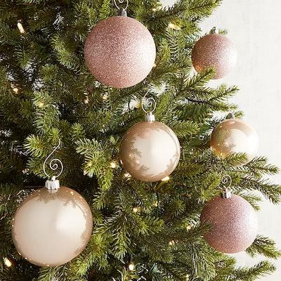 "3"" Pink Shatterproof Ornament Set"