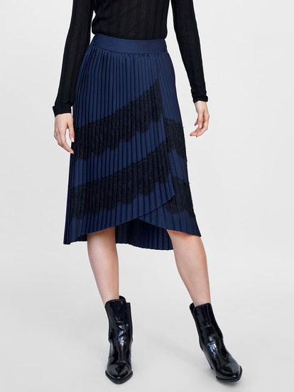 Mixed Pleated Skirt