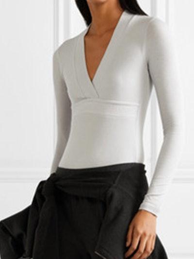 Ribbed Stretch-Micro Modal Thong Bodysuit
