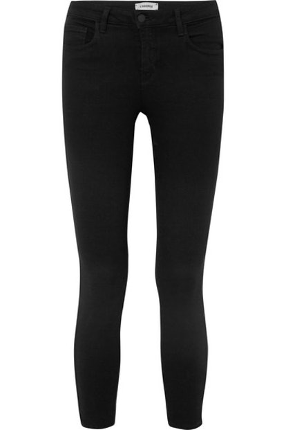 Mazzy Cropped Low-Rise Skinny Jeans