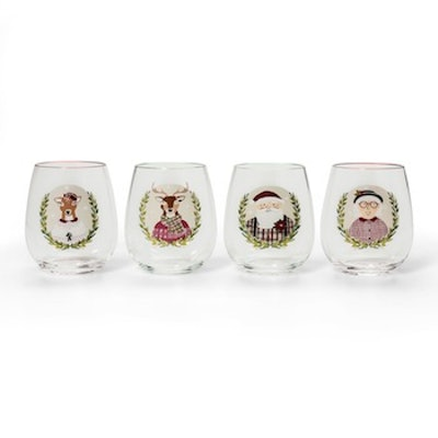 Threshold Character Stemless Wine Glass, Set of 4