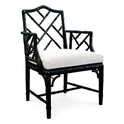 Black Chippendale Arm Chair