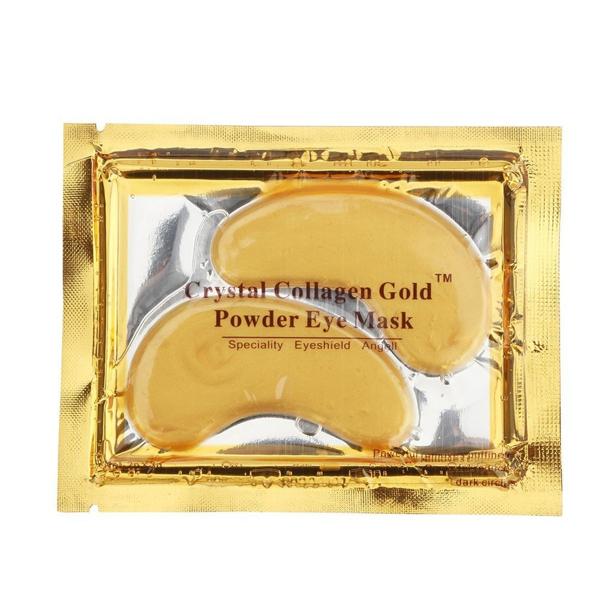 New Crystal 24K Gold Powder Gel Collagen Eye Mask (10 Pairs)