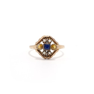 Rennes Sapphire And Citrine Ring