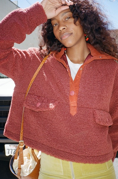 House of Sunny Teddy Pullover - Reddish Brown
