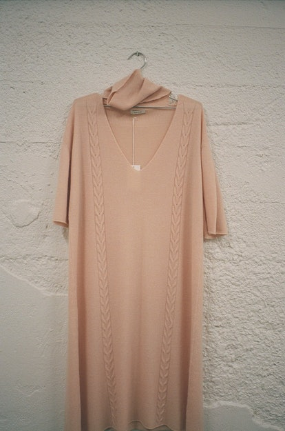 Ryan Roche Open Turtleneck Tunic - Nude