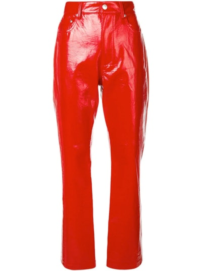 Faux Patent Trousers