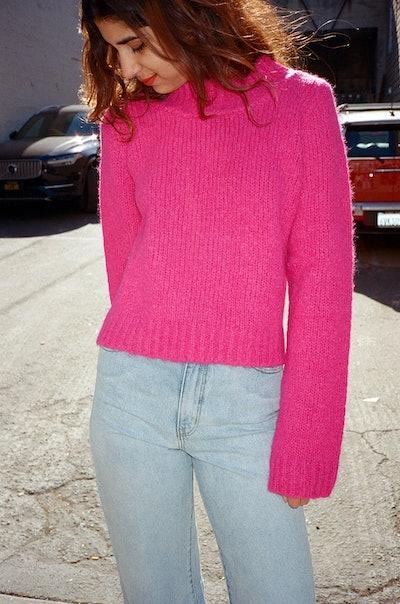 Toit Volant Frances Sweater - Fuchsia
