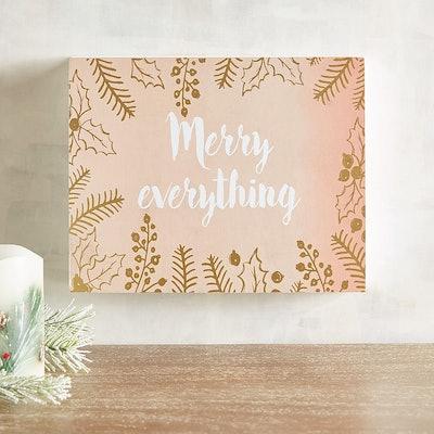 Merry Everything Blush Small Art