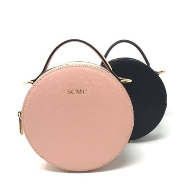 Lover Of Luxe Personalised Leather Round Circle Bag