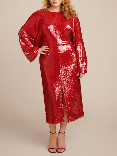 Stretch Sequins Dolman Dress