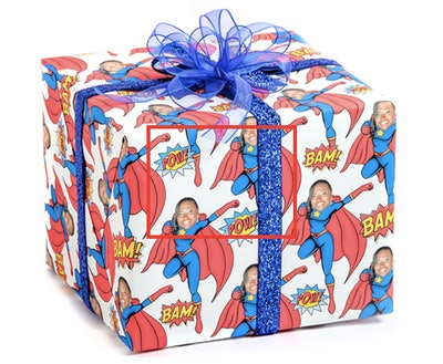 Gift Wrap My Face Superwoman Full Roll