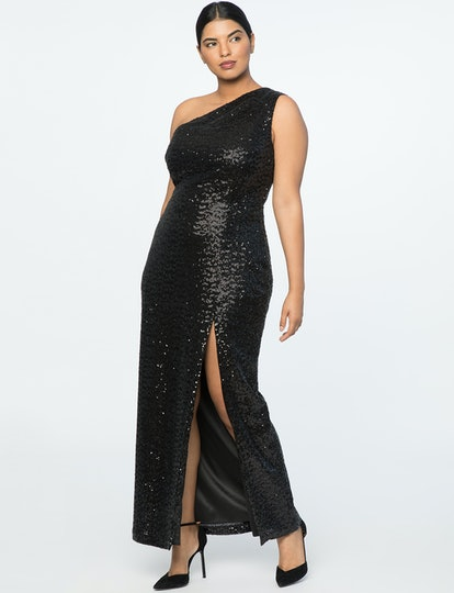 Jason Wu X ELOQUII One Shoulder Sequin Gown