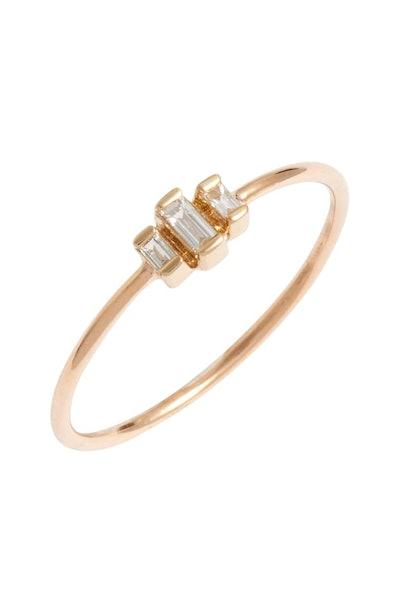 Zoë Chicco Diamond Baguette Stack Ring