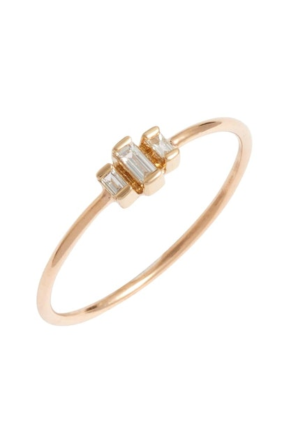 Zoë Chicco Diamond Baguette Stack Ring