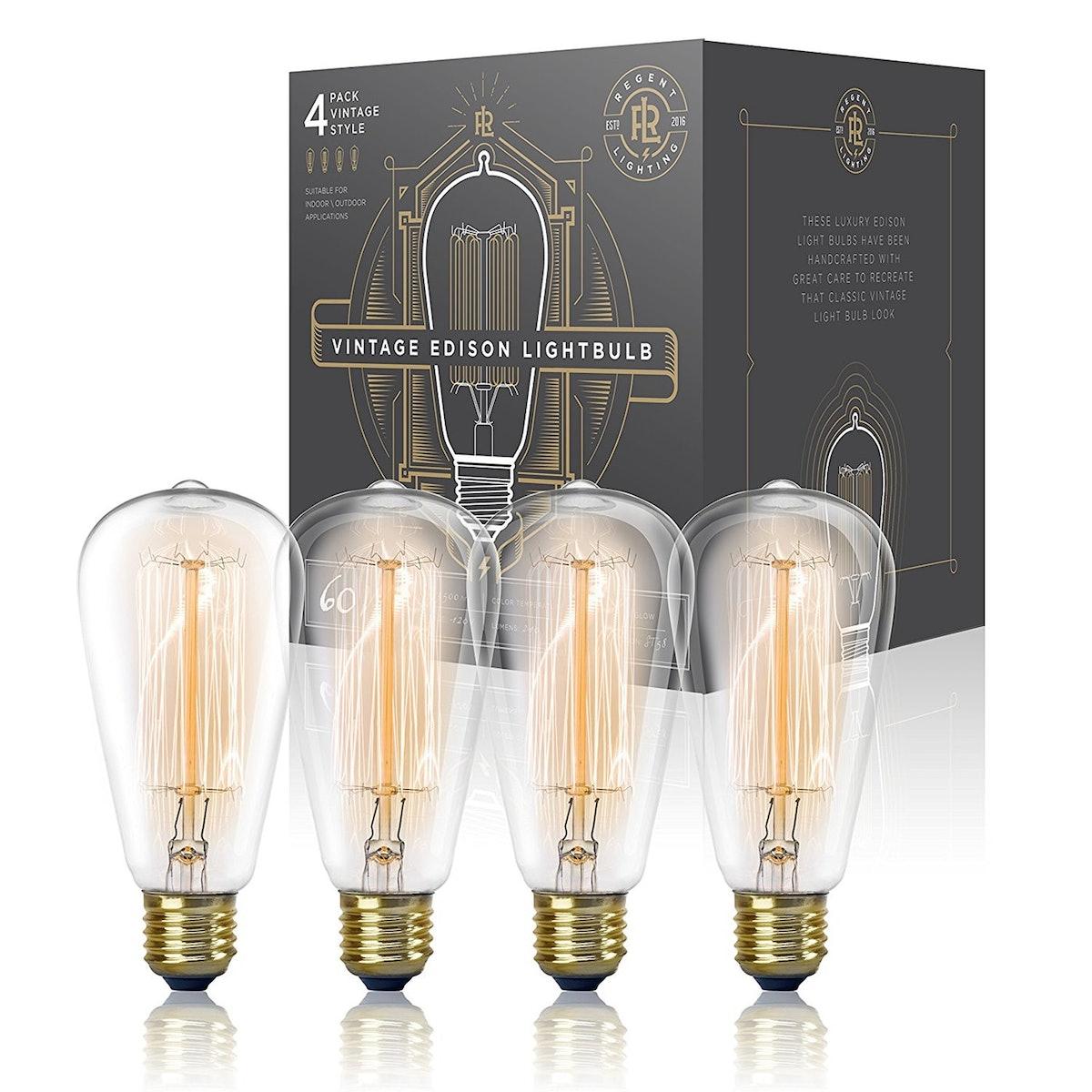 Vintage Edison Lightbulbs (4 Pack)