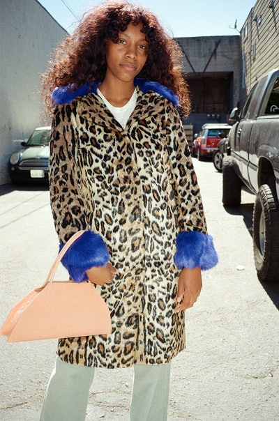 Just Female Jackie Faux Fur Coat - Leo Mix